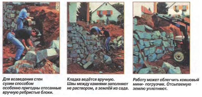 Ограждение участка из камня