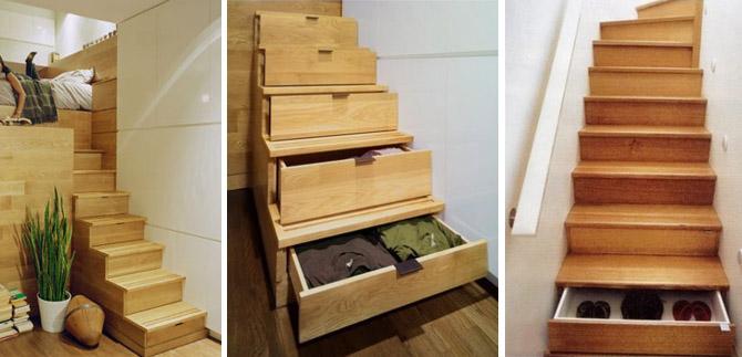 лестница со ступенями-ящиками